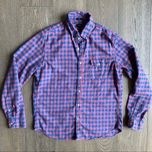 J. Crew Slim Twill Camp Shirt In Gingham